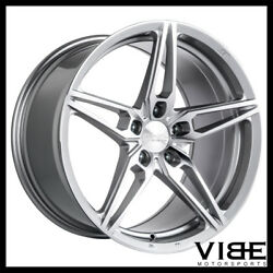 19 Ace Aff01 Flow Form Silver Concave Wheels Rims Fits Ford Mustang Gt