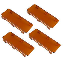 4x 8 Snap On Amber Straight Curved Led Light Bar Lens Cover Atv 4wd 16 24 32