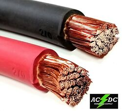 Welding Cable Red Black 2/0 Gauge Copper Wire Sae J1127 Car Battery Solar