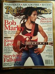 Rolling Stone Magazine The Life And Times Of Bob Marley Mars Volta Arcade Fire