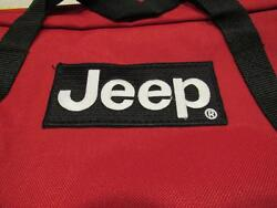 JEEP Laptop Red bag with jeep logo with zipper. New $39.50