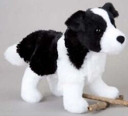 MEADOW Douglas 7quot; plush BORDER COLLIE stuffed animal toy black white dog