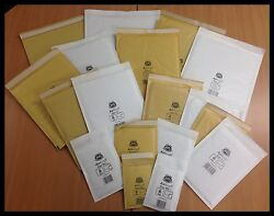 White / Gold Genuine Jiffy Brand Padded Bags / Envelopes And039all Sizesand039 24h Del