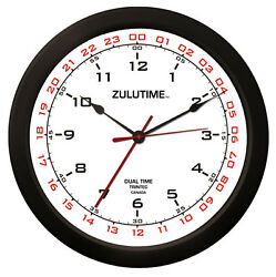 Trintec 14 Zulutime Dual Time Clock Zt14-2 Gift For Pilots And Flight Departments