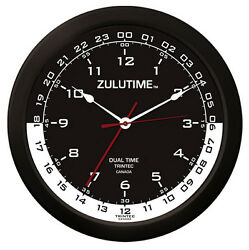 Trintec 14 Zulutime Dual Time Clock Zt14-4 Gift For Pilots And Flight Departments