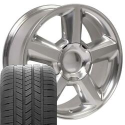 Oew Fits 20 Polished Tahoe Ltz Wheels And Goodyear Ls2 Tires Chevy