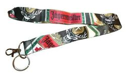 Jagermeister Neck Lanyard Keychain - New - Jager Promo Id Badge Holder Key Chain