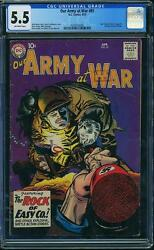 Our Army At War 81 Cgc 5.5 Dc 1959 Sgt. Rock Prototype Until 83 F12 286 1 Cm
