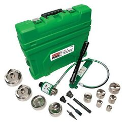 Greenlee 7310SBSP Conduit 12-Inch to 4-In Speed Punch Knockout Kit Mild Steel
