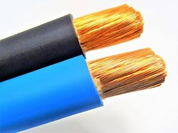 500 Ft 1/0 Awg Welding/battery Cable 250 Black 250 Blue 600v Made In Usa Copper