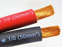 Excelene 1/0 Awg Welding Lead Cable Copper Wire Made In Usa Black And Red