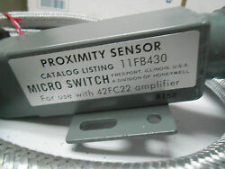 11FB430 MICRO SWITCH PROXIMITY SENSOR 10' CABLE USE WITH 42FC22 AMPLIFIER NOS