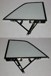 63 64 Buick Chevy Olds Pontiac 2 Door Hardtop Pair Assembled Clear Quarter Glass