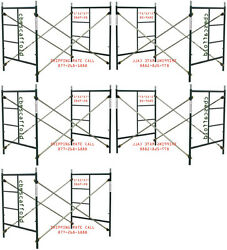 Cbm Scaffold Five Set Of New Heavy Duty Masonry Scaffold Frame 5and039 X 5and039 X 7and039 Set