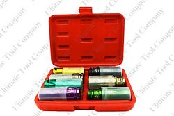 7pc 1 2quot; Dr Thin Wall Torque Socket Set SAE Magnetic Deep amp; Protective Sleeve