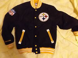 Mitchell And Ness Steelers Wool Jacket Size Large Retail 400
