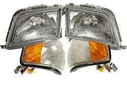 Headlights Front Lamps Left+Right Fits Mercedes Sl R129 1989-2001