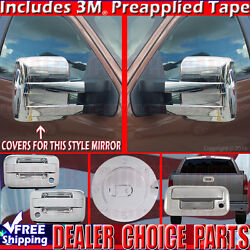 2009-2014 F150 Chrome Gas Door Handle W/okp W/psk 2dr T Mirror Tailgate Covers