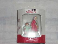 Its A Wonderful Life Village Enesco Woman With Child Holiday Set