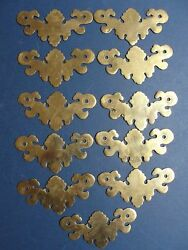 Brass Antique Vintage Drawer Pull Backplates Only For 3 1/2 Center Pulls - 11