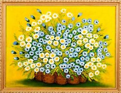 View Flowers 2017 Artist Tanya Blons Canvas Oil 22 X 28 7/8and039 Value 3000