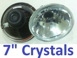 1pr 7 Crystal Headlights For Land Rover Series 1 2 2a 3 Hi/lo H4 Lights