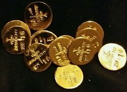 3 1 Gram Bar Usa Bullion 1g 22k Placer Gold Rounds From Mine Y Lot 172 Anarchy
