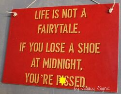 Fairy Tale Pssed Red Bar Pub Bartender Sign - Beer Wine Liquor Champagne