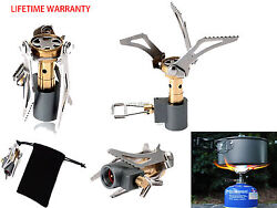 Portable Ultralight Backpacking Gas Butane Propane Canister Camp Stove Burner
