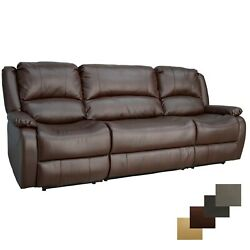 Recpro Charles 94 Double Wall Hugger Recliner W Console Mahogany Rv Furniture