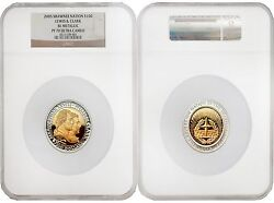 Shawnee Nation 2005 Lewis And Clark Bi-metallic 100 Gold And Silver Ngc Pf70