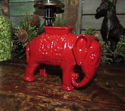 Antique Vtg A C Williams Cast Iron Circus Elephant Penny Bank Father Day Gift