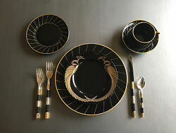 Fitz And Floyd Harlow And Phoenix D'or 4-piece Place Setting- 12 Settings