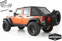 2007-2017 Jeep Wrangler Unlimited Jk Frameless Bowless Soft Top And Hardware Kit