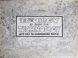 Kelly Freas Drawing Ecology Is Part Of Technology + Signed Final Print