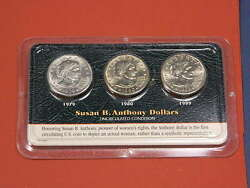 1979 S -1980- D And 1999 P Sba-uncirculated Littleton Set Free Shipping Incl