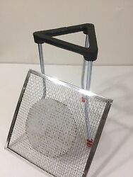 7 Lab Bunsen Burner Tripod Cast Iron Support Stand With Mesh Size 6 X 6