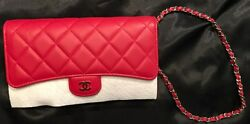 100% Authentic Brand New Chanel Wristlet Handbag color: Red