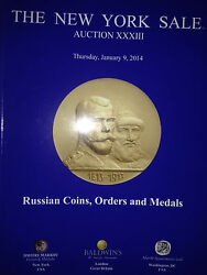 Ny Sale Russian Gold Silver Coins Awards Markov Auction Xxxiii Jan. 2014