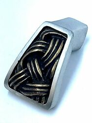 Vicenza Designs Sancio Hand Crafted Finger Pull Knob Antique Brass And Nickel