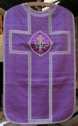 Chasuble Purple And Silver T