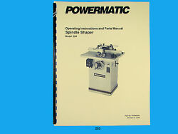 Powermatic Model 25a Spindle Shaper Instruction And Parts List Manual 265