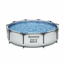 Bestway 10and039 X 30 Steel Pro Frame Above Ground Swimming Pool Set Open Box