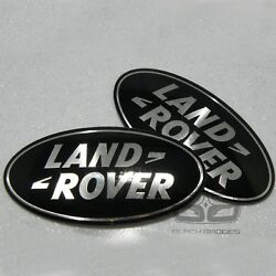 Land Rover Discovery 3 Black Supercharged Grill And Back Rear Oval Badge Set Pair