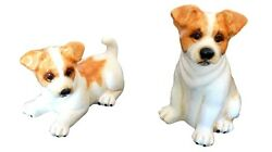 Ceramic Jack Russell Terrier Dog Salt & Pepper Shakers By Big Sky Carver NEW