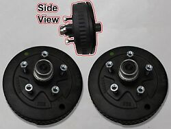 5 X 4.75 Pair Of Brake Assembly Spindle Kit Stub End Unit Trailer Axle 3500 84
