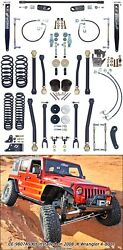 Currie CE-9807AS 4 in. Off Road Suspension System Fits 07-18 Wrangler (JK)
