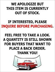 1958 Chev Pontiac 4 Door Sedan Glass Windshield Vents Doors Rear Back Set Green