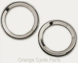 Small Instrument Gauge Chrome 2 Bezel Trim Ring Harley Ultra Classic 00-up Pair
