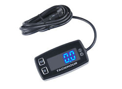Deluxe Large Blue Display 12v Led Tach / Hour Meter Service And Rpm Alerts